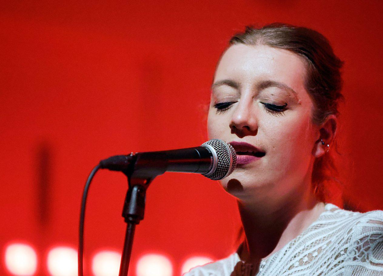 Sarah Jeffery van de Amsterdamse band Jerboah